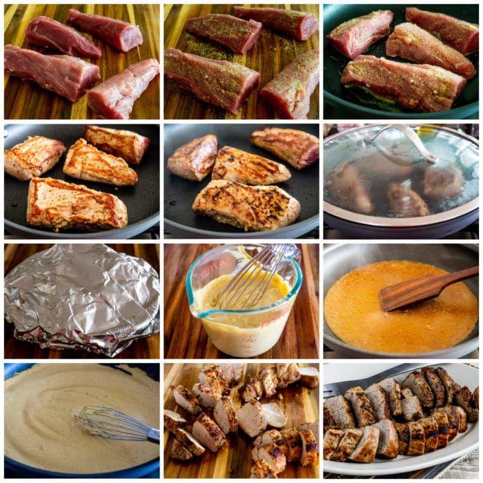 Pork Tenderloin with Mustard Sauce collage photo