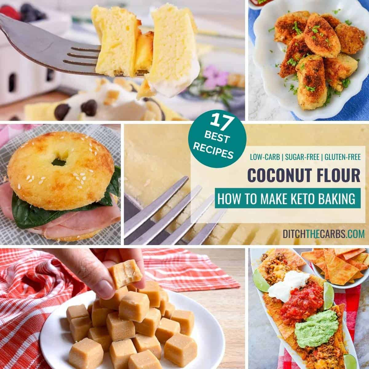 collage of the best keto coconut flour recipes