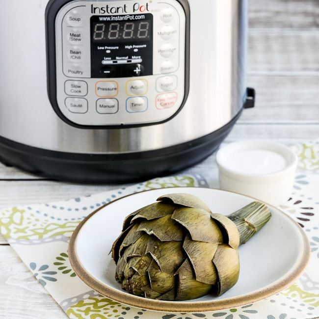 How to Cook Artichokes in the Instant Pot Found on KalynsKitchen.com