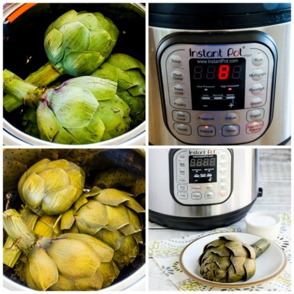 Cooking Artichokes in the Instant Pot found on KalynsKitchen.com