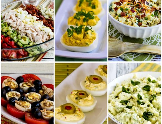 Low-Carb and Keto Recipes Using Hard-Boiled Eggs collage photo