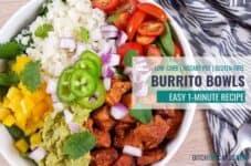 Low-carb instant pot chicken burrito bowls