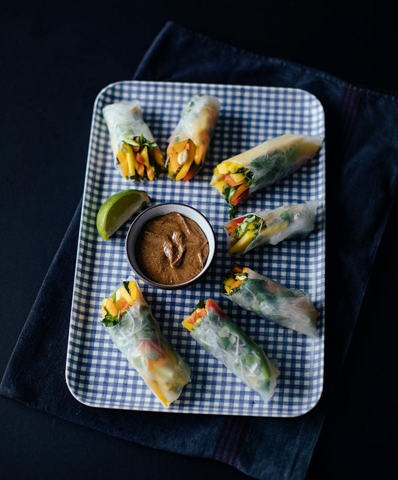 Fresh Veggie Spring Rolls - Say Yes