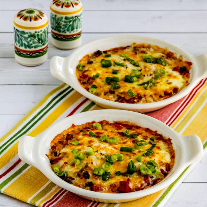 Mexican Baked Eggs thumbnail image of finished eggs in gratin dishes
