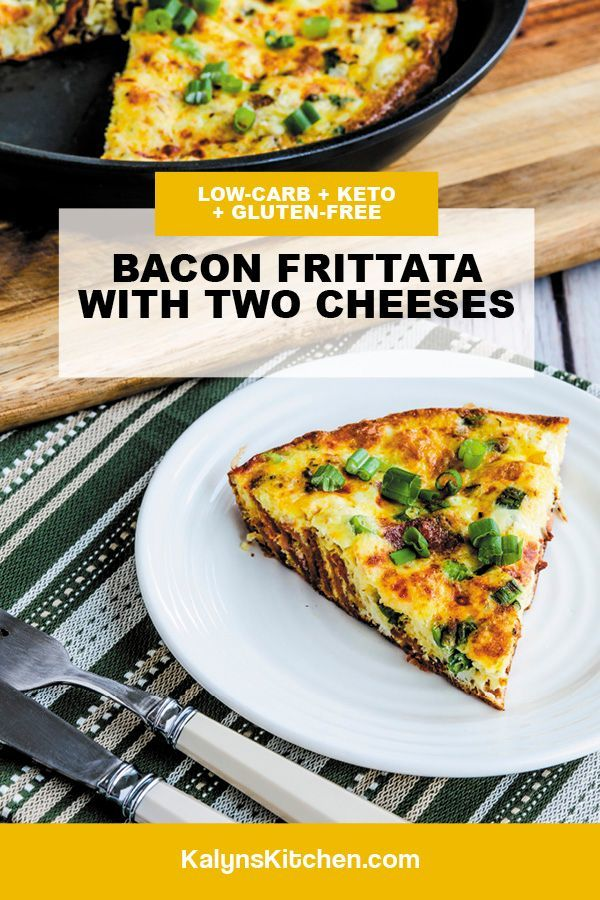 Bacon Frittata with Two Cheeses Pinterest image