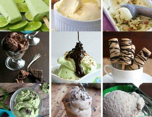 collage of 25 Sugar Free Ice Creams