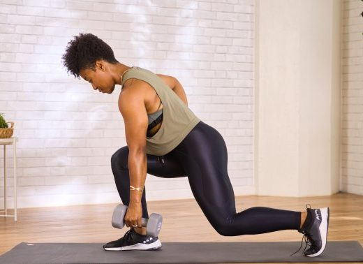 This Lunge Variation Works Your Glutes Even More (With Less Stress On The Knees)