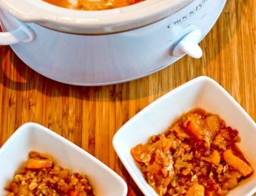 Slow Cooker Peach Crisp (Video) – Kalyn's Kitchen