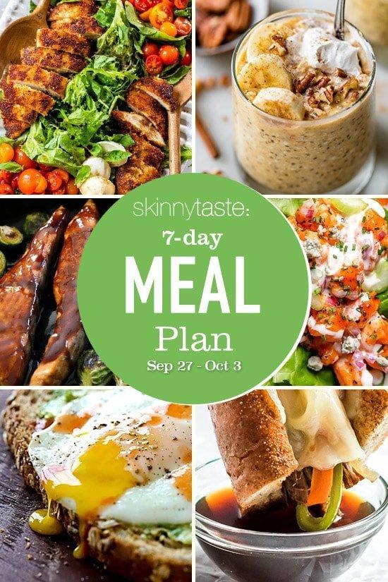 7 Day Healthy Meal Plan (September 27- October 3)