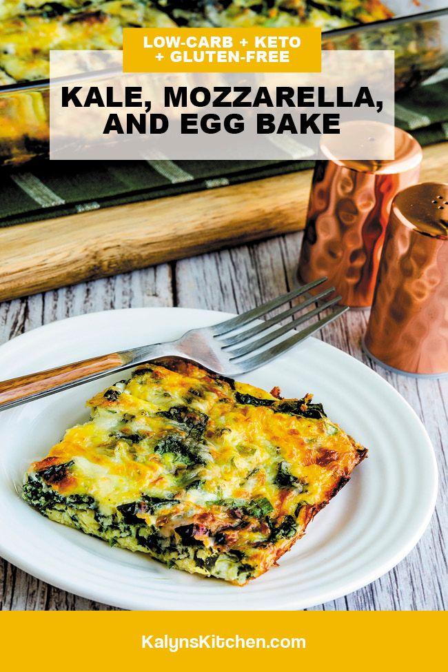 Kale, Mozzarella, and Egg Bake Pinterest image